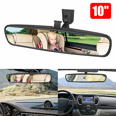 """10""""Car Wide Interior Rear View Mirror Clip On Rearview for Universal Auto Truck"""