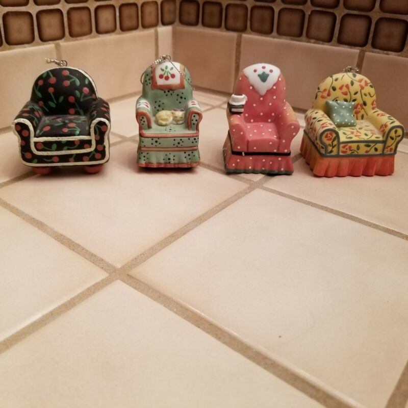Mary Engelbreit Chair Ornaments Set Of 4