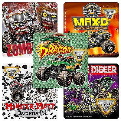 Monster Jam Stickers x 15 - Birthday Favours - Gravedigger - Fan Favs - Trucks](Grave Digger Monster Truck Party Supplies)