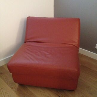 Freedom red ottoman with reclining back rest Chatswood Willoughby Area Preview