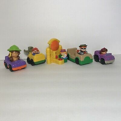 Lot of 5 Fisher Price Little People McDonalds Happy Meal Kids Toys & Cars Mattel