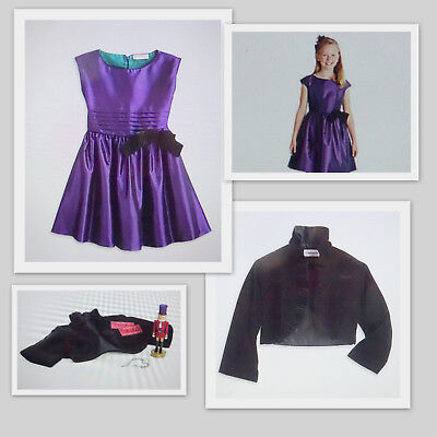 American Girl PURPLE PARTY DRESS GIRLS SIZE 12 W/JACKET & HOLIDAY