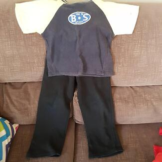 boys size 6 top and track pants