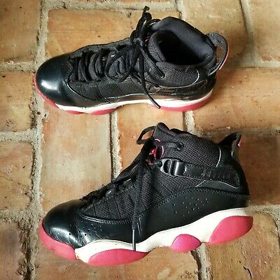 2013 Air Jordan 6 Rings Bred Kid's Size 3Y Red/Black 32341-001 Basketball Shoes