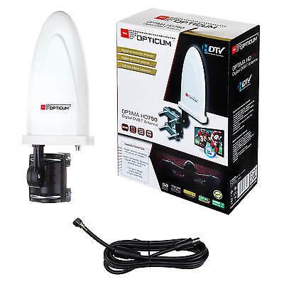 OPTICUM HD750 DVB-T2 Aussen Antenne Außen FM VHF HDTV Aktive Full Terrestrische