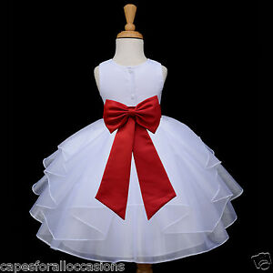 White flower girl pageant dress 6 12 month 12 18 month 2 for 12 month dresses for wedding
