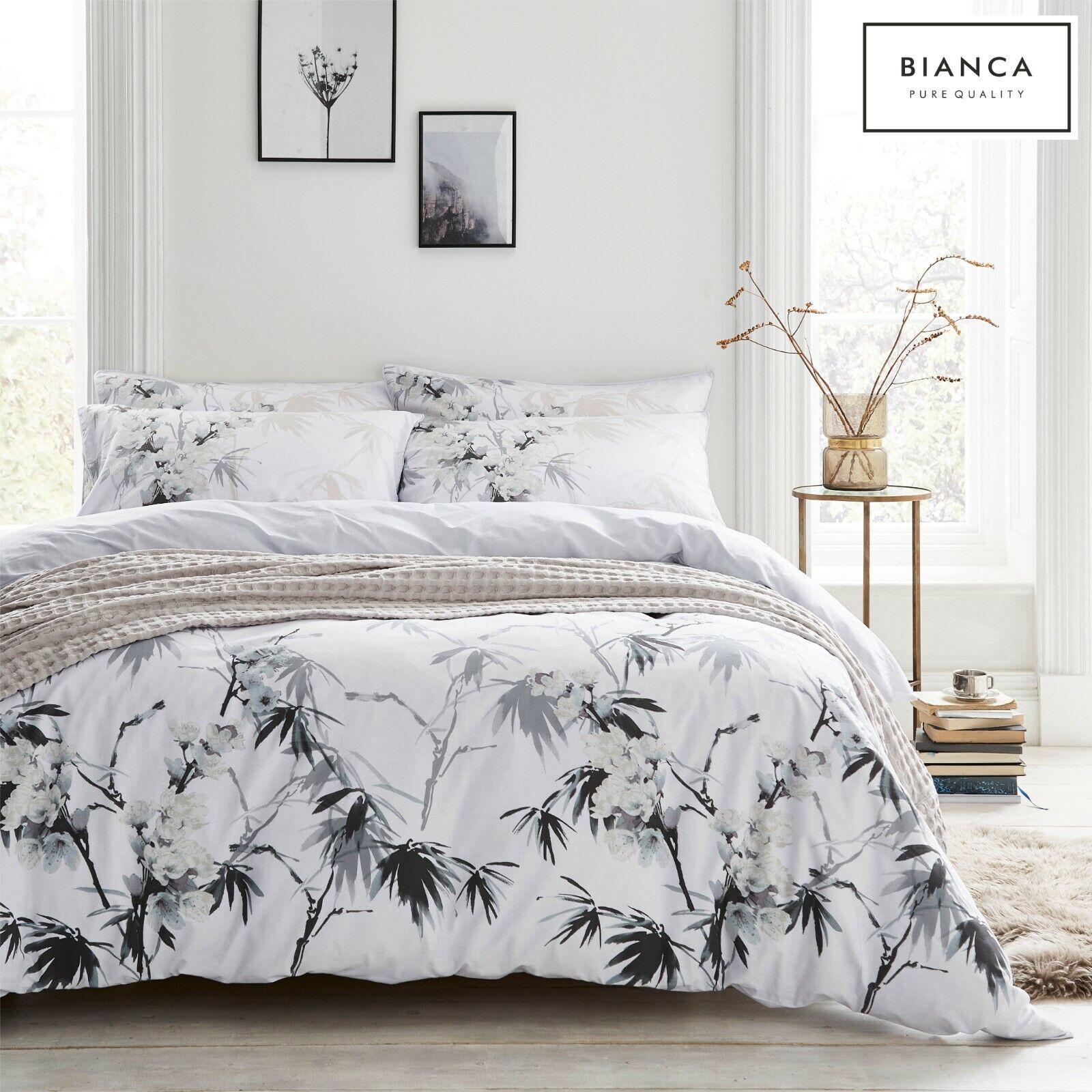 Bianca GEO COTTON PRINT 100/% Cotton Soft Duvet Cover//Quilt Cover Set Grey