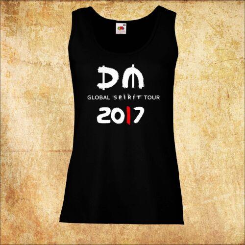 WOMEN/DAMEN  VEST T-SHIRT DEPECHE MODE SPIRIT TOUR 2017 3 ROCK TOP TANK TEE