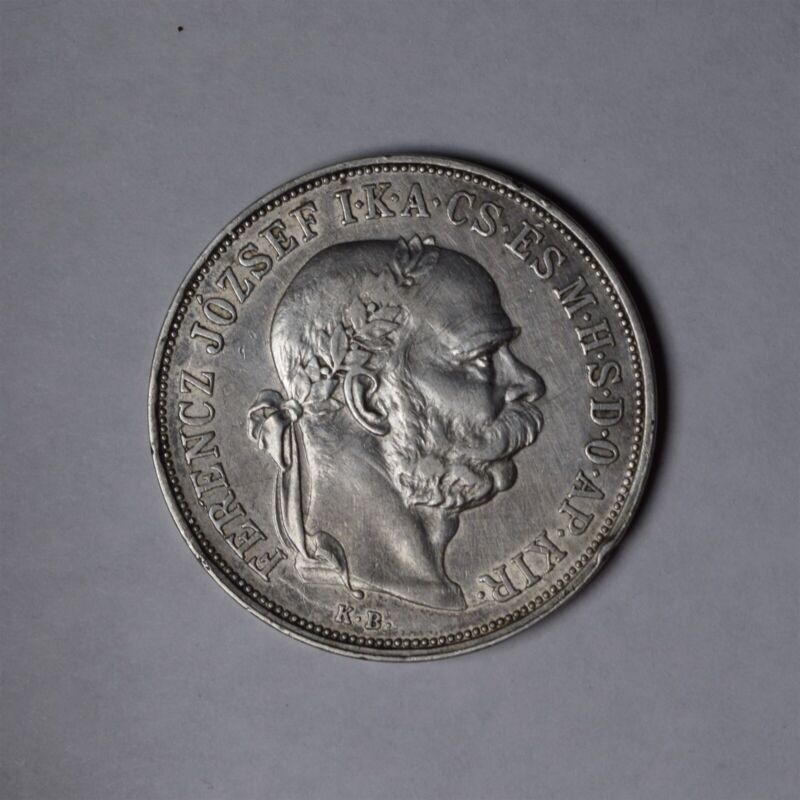 1900 HUNGARY 5 KORONA KM#488 SILVER COIN