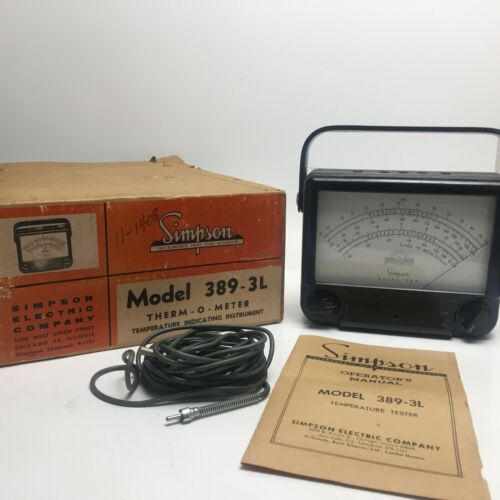 New Old Stock Simpson model 389-3LTherm O Meter
