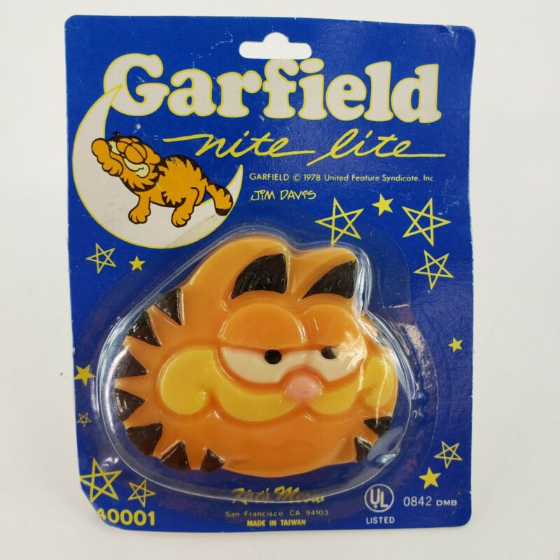 VTG 1978 Garfield The Cat Night Light Nite Lite Glow Figure Jim Davis Tested NEW