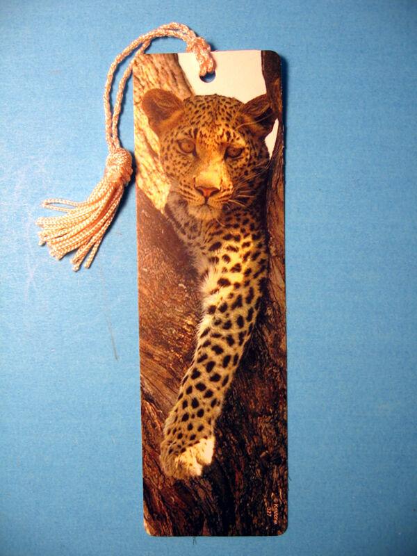 """""""Leopard In Tree"""" Print on a Tassel Bookmark (natural tassel) Sku# 327"""