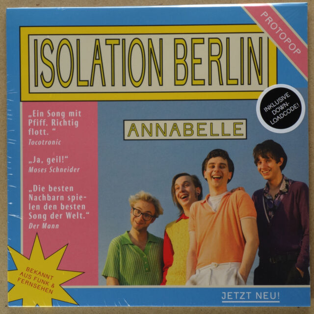 "ISOLATION BERLIN - Annabelle / Swantje ***7""-Vinyl***NEW***sealed**"