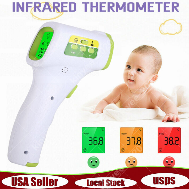 IR Infrared Thermometer Contactless Medical Digital Forehead Temperature 2020