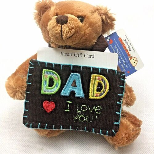 Plush I Love You Dad Teddy Bear With Gift Card Holder Free Shipping