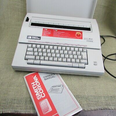 Smith Corona 250 Dle Electric Typewriter With Cover And Instruction Manual Works