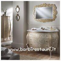 mobile da bagno barocco bombato bassorilievi oro swarovski masslello