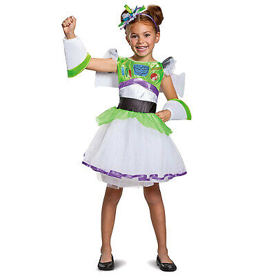 Toy Story Buzz Lightyear Toddler Halloween Costume (Girls Disney Toy Story 4 Buzz Lightyear Halloween Costume Dress Child)