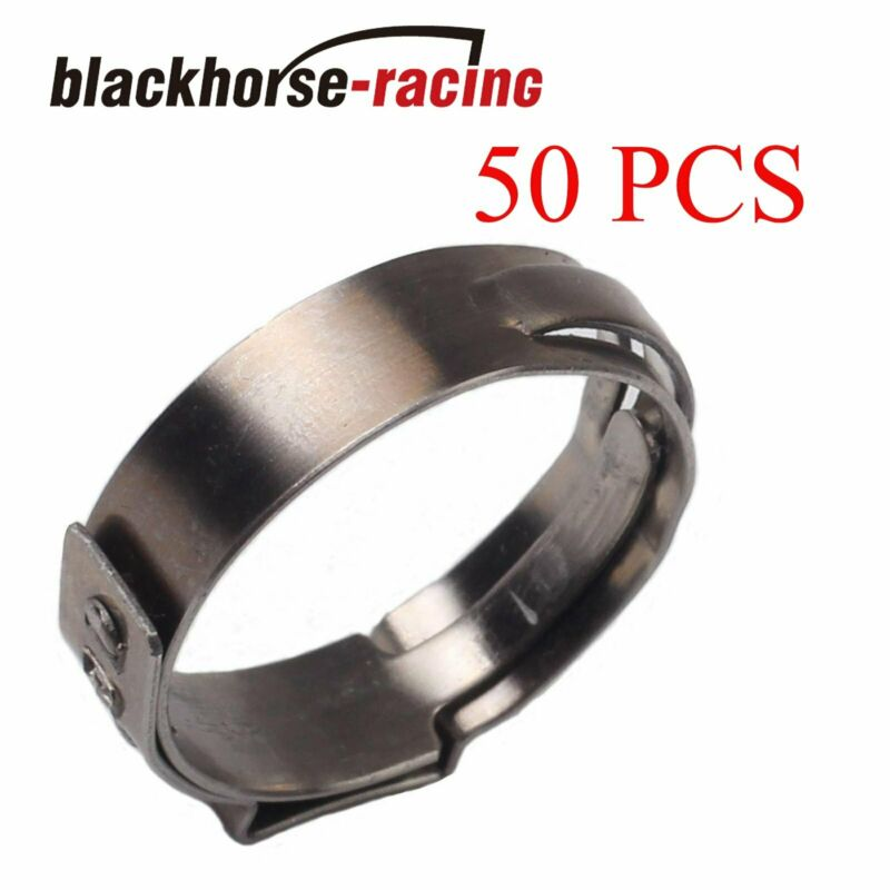 50X  3/4'' PEX Clamp Cinch Rings Crimp Pinch Fittings 304 Stainless Steel