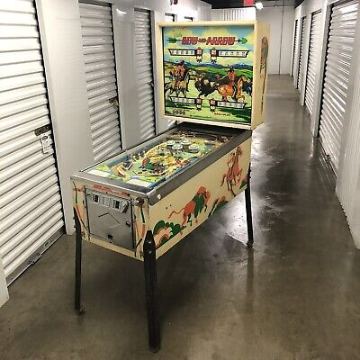 Vintage 1975 Bally BOW & ARROW Cowboy Indian pinball machine LOCAL PICKUP ONLY
