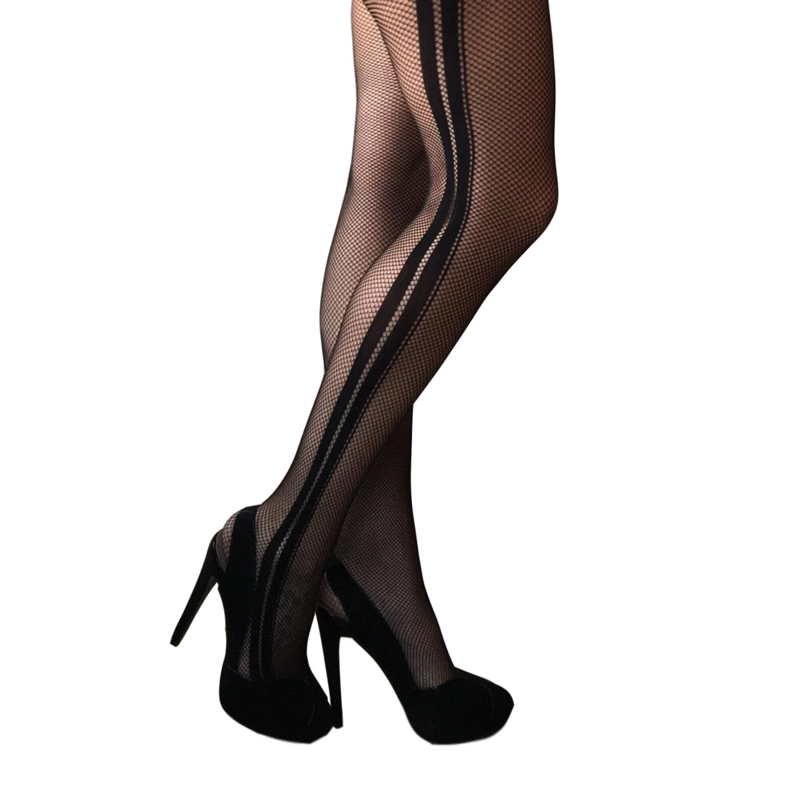 Jonathan Aston Ribbed Over the Knee Tights Polyamide JAWX 1 Pair Black