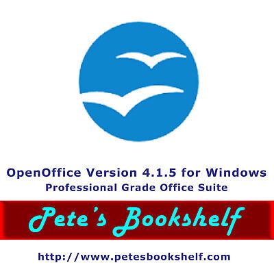 Openoffice    Version 4 1 5 For Windows On Cd   Word Proc Spreadsheet Database