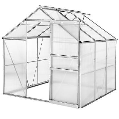 Greenhouse polycarbonate aluminium grow plants growhouse garden structure 5.85m³