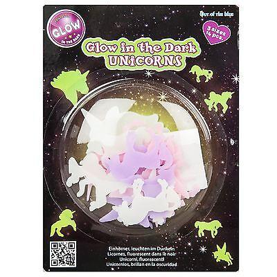 Unicorn Glow In The Dark Stickers Decal Wall Art Room Decor 14 Pc Unicorns