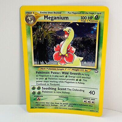 Megamium 11/111 Pokemon Card Neo Genesis Holo Foil  Ultra Rare  HOLO SWIRL