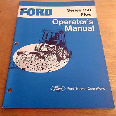 Ford 150 Series Plow Operators Manual Book Catalog - Original Oem