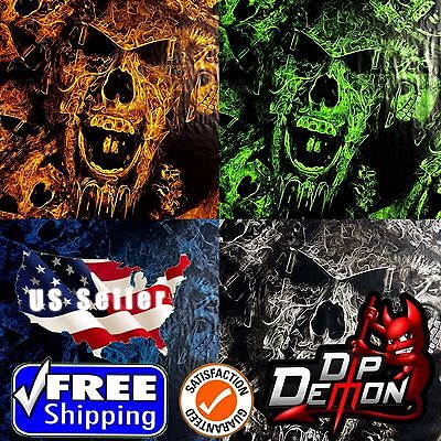 Lm Large Mohawk Skulls Hydrographic Water Transfer Film Hydro Dipping Dip