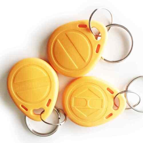 100 x RFID Chipschlüssel Schlüsselanhänger Transponder Zutrittskontrolle Keyfob