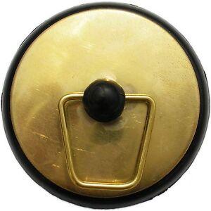 Kinetic BASIN OR BATH PLUG Polished Brass Rubber Base Seals Holes – 38mm Or 50mm