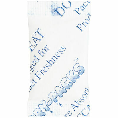 Silica Gel Packets Cotton Desiccant Dry Moisture Humidity Ammo Guns 1 Gram 100pk