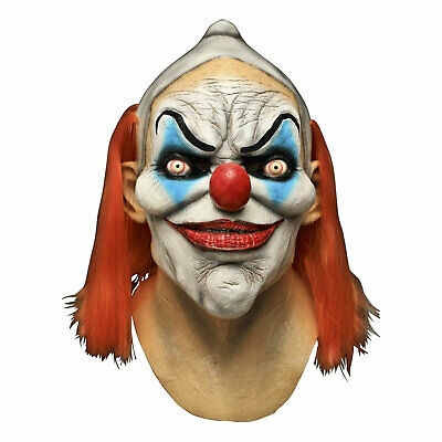 Men's Dexter Clown Evil Overhead Latex Costume Mask Halloween Party Scary Horror](Mens Evil Clown Halloween Costumes)
