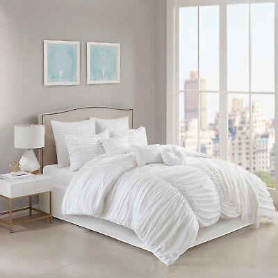 - Jasmine 10-Piece Queen Comforter Set in White