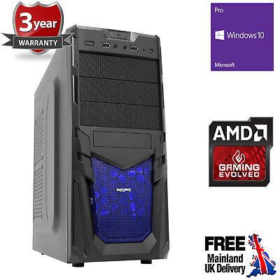 Computer Games - Ultra Fast AMD Quad Core 4.2 8GB 1TB Desktop Gaming PC Computer Windows 10 Pro V