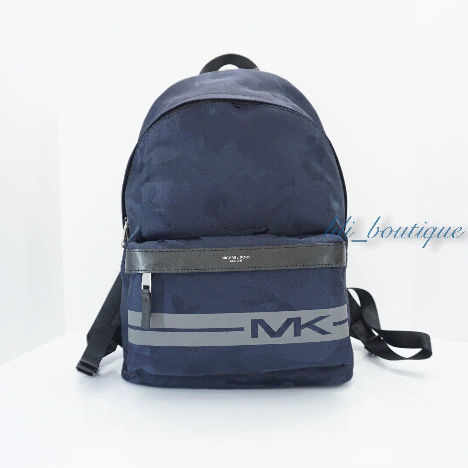 NWT Michael Kors Men Kent Backpack Travel Laptop Bag Nylon C