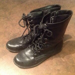 Skechers and Combat style black boots