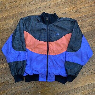 Vintage 90s Nike International Windbreaker Color Block Jacket Men's Size M