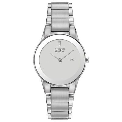 Citizen Eco-Drive Women's Axiom Silver-Tone Bracelet 30mm Watch GA1050-51A