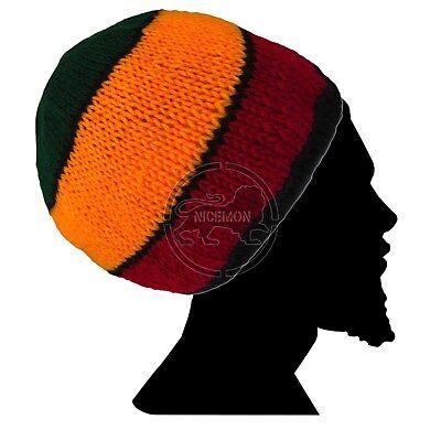 Wurzeln Tam Jamaica Handmade Hut Kappe Rastacap Reggae Marley Afrika M/L Rasta Tam