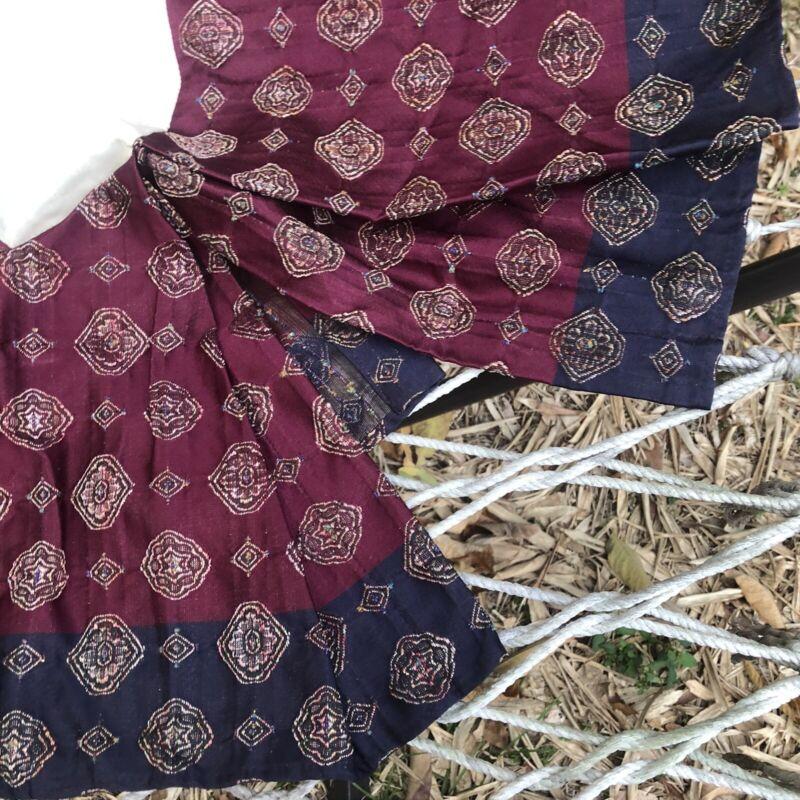 Croscill Arabella Jewel Tone Blue Fuschia QUEEN Bed Skirt Dust Ruffle Split Boho
