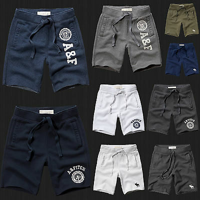 New Abercrombie Fitch Men Athletic Fleece Sweat Shorts Hollister All Size NWT