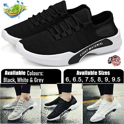 Mens Womens Trainers Fitness Mesh Sports Running Gym Casual Sneakers Shoes 6-9.5