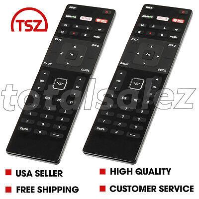 2 For US New Vizio XRT122 LED HDTV TV Remote Control Amazon/Netflix/IHeart Key