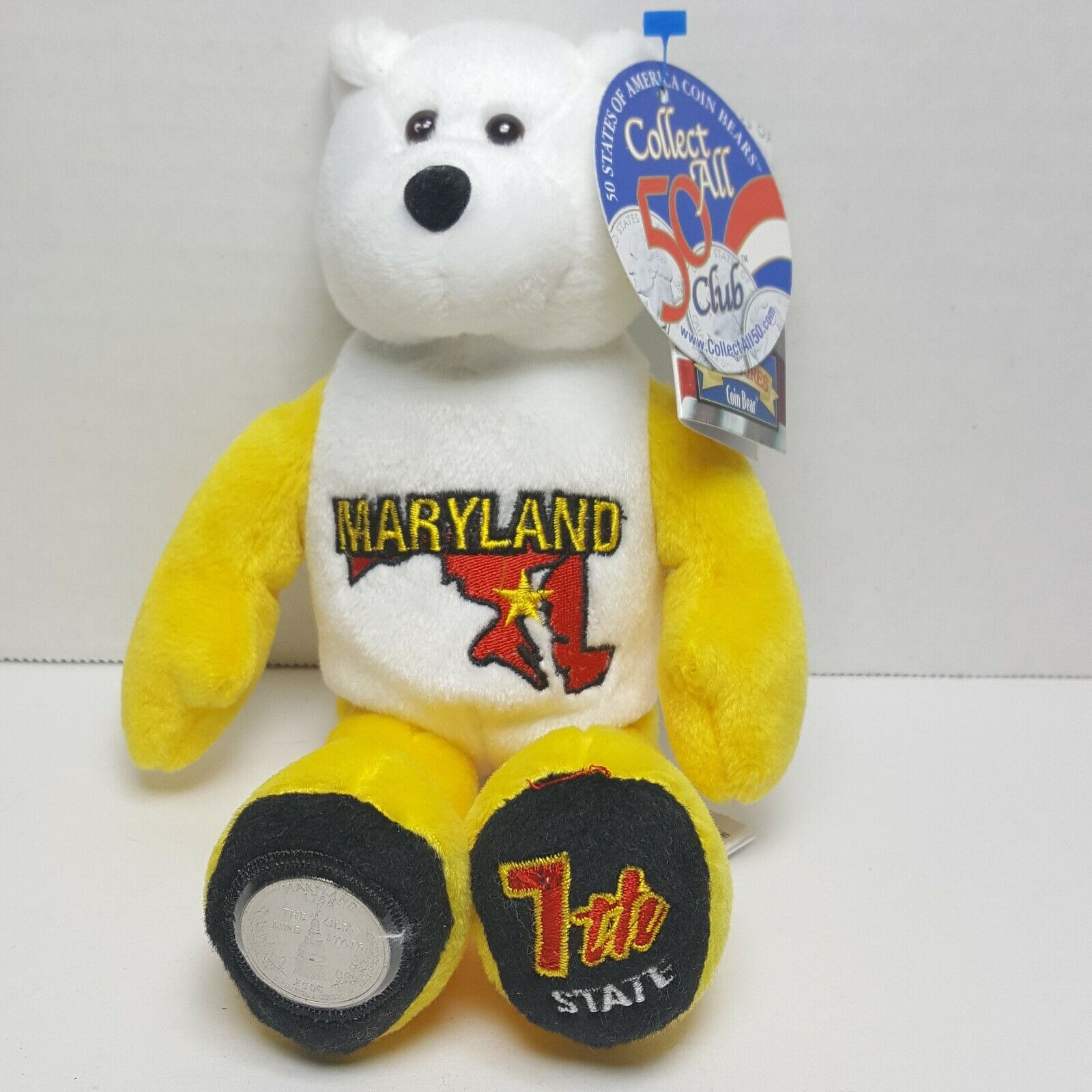 Maryland Limited Treasures Coin Bear Beanie State Quarter #7 Retired Mint
