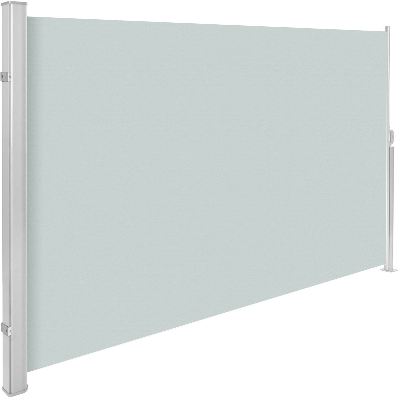 Seitenmarkise Sonnenschutz Sichtschutz Windschutz Alu Terrasse UV grau