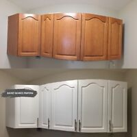Affordable Cabinet Coatings with Rocket Richer's Painting