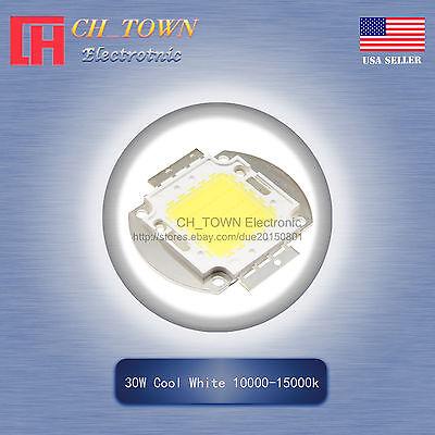 1pcs 30w Watt High Power Cool White 10000-15000k Smd Led Chip Blub Cob Lamp